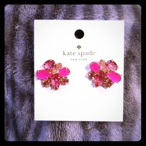 Kate Spade Pink Cluster Earrings